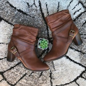 Pikolinos Brown Strapped Leather Ankle Boots